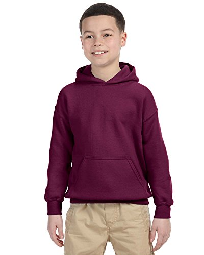 - Gildan Men's Heavyweight Blend Hooded Sweatshirt - Maroon - X-Large
