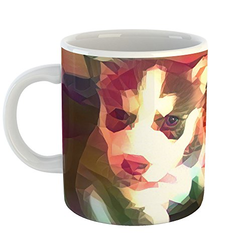 Yellow - 15oz Coffee Cup Mug - Abstract Artwork Home Office Birthday Christmas Gift - 15 Ounce ()