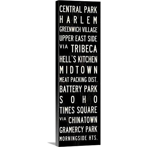 New York Transit Sign Canvas Wall Art Print, 12