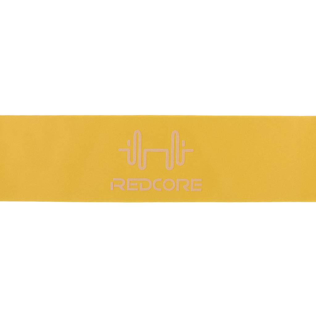 MagiDeal Banda de Resistencia Ejercicio Banda Bucle Entrenamiento Equipo de Estiramiento Amarillo 1.3mm