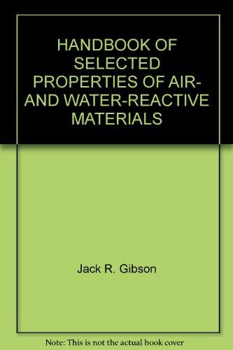 HANDBOOK OF SELECTED PROPERTIES OF AIR- AND WATER-REACTIVE MATERIALS