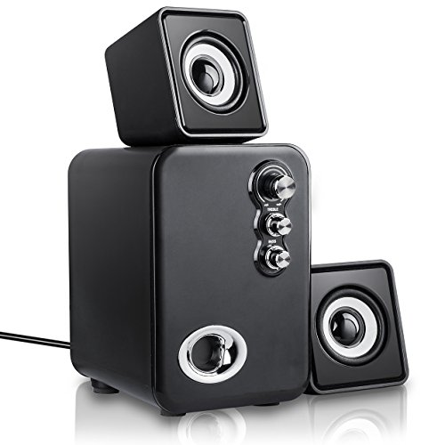 MeetuoSound Computer Speakers, USB Powered 2.1 Multimedia Stereo Desktop Laptop Speakers, Best for Laptops, PC, TV, IPAD, Mobile Phone, Adjustable Bass&Treble - Multimedia Pc Laptop