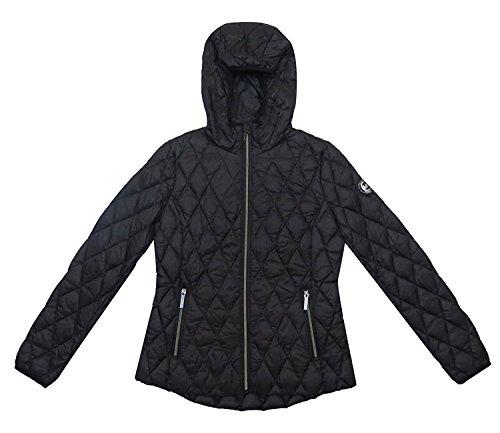 Michael Kors Black Diamond Quilted Hooded Packable - Sf Kors Michael