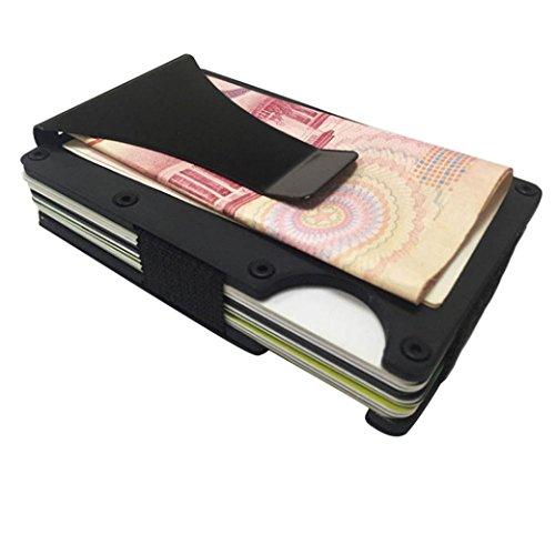 MM&I Men Metal Wallet Credit Card Holder Aluminum Money Clip - Of A Card In Credit Mm Size