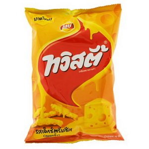 Twisties Rice Cracker Extreme Cheese Unique Taste Thailand Only 78g. (Extreme Shrimp)
