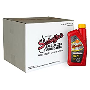 Schaeffer Manufacturing 9005-012 Supreme 9000 Full Synthetic Engine Oil, 0W-20, 1 quart (Pack of 12)