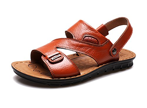 Shoes No Leather Slipper Brown Beach Men's Town Sandals 66 grwqwZCI