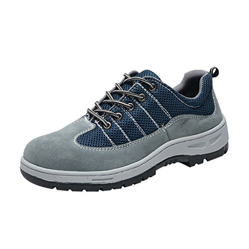 Comp Shoes Men's Shoes Safety Work Blue Ventilate Steel Shoes Optimal Toe 1qCxfPnH1w