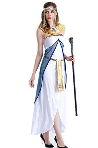 [Pharoah's Princess Costume Queen Egyptian cosplay Halloween Dress for Women Adult (M)] (Egyptian Pharaoh Princess Adult Womens Costumes)