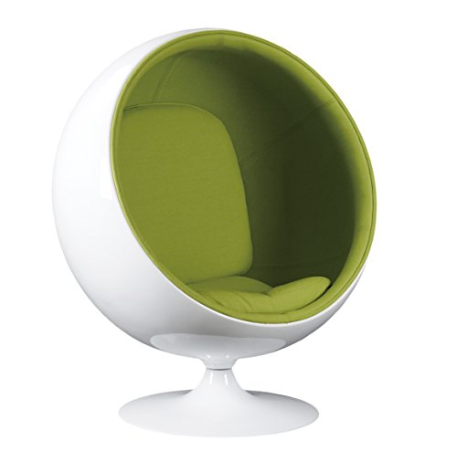 Simple Modern Fashion Style Living Room Ball-Style Fiberglass Chair (Green)