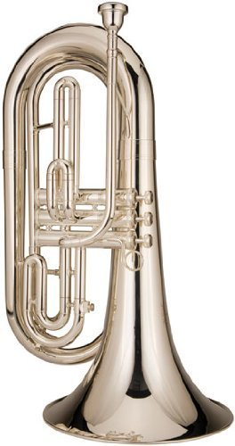 Ravel RMB202S Marching Baritone Horn, Silver-Plated by Ravel
