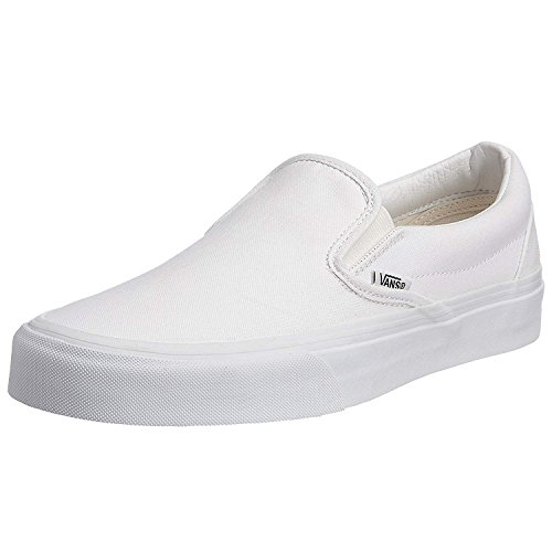 VANS Classic Slip Ons Skate Shoes Sneakers Canvas Surf True White 8 Men 9.5 ()