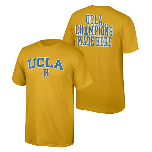 Elite Fan Shop NCAA Men's Ucla Bruins T Shirt Team Color Back Ucla Bruins Gold X Large ()