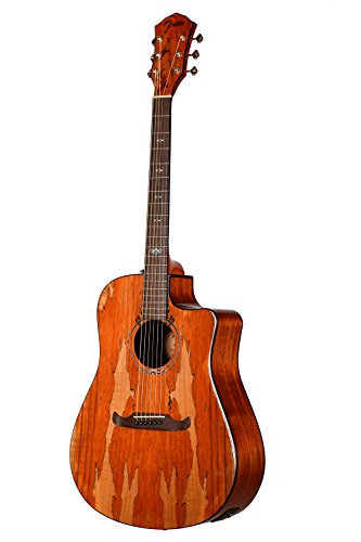 Fender T-Bucket 400CE Spalted Maple FSR Acoustic Electric Guitar (Best Mid Range Acoustic Guitar)