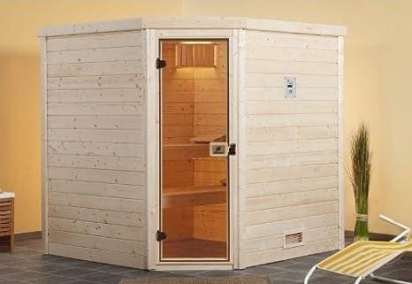 Serpentín de Sauna preparar la tendencia de madera maciza Sauna con estufa de 7,5 kW: Amazon.es: Bricolaje y herramientas