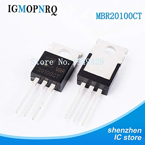 (Kammas 10PCS/LOT MBR20100CT MBR20100 MBR20100C MBR20100G B20100G Schottky Diodes & Rectifiers 20A 100V TO-220 new original)