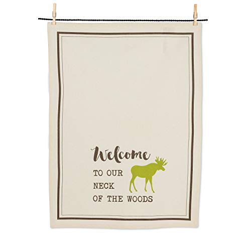 (Abbott Collection 1256-KT-06 Welcome/Moose Tea Towel-20x28