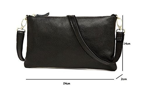 Ideal de Bloqueo Mujer Genuina Sucastle Capacidad trabajo Genuino Mano Cuero bolsos Hecho RFID hombro viaje a 1 3 Gran para y 6zzFxnAwq