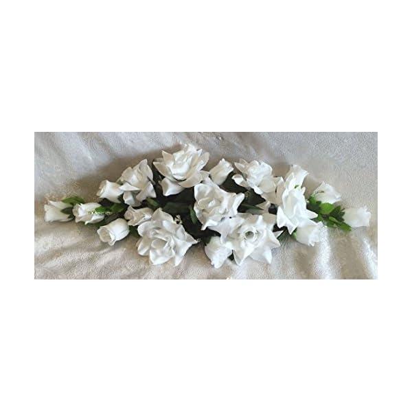 WHITE SWAG Silk Wedding Flowers Roses Arch Gazebo Decor Centerpieces Reception