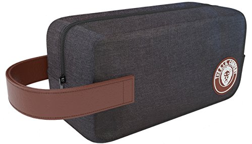 Essentials Bag - Men's Bathroom Travel Toiletry Bag Packing Organizer - Shaving Dopp Kit - Comes with Bonus Shaving Guide eBook - Grey - The B.I.G. Company