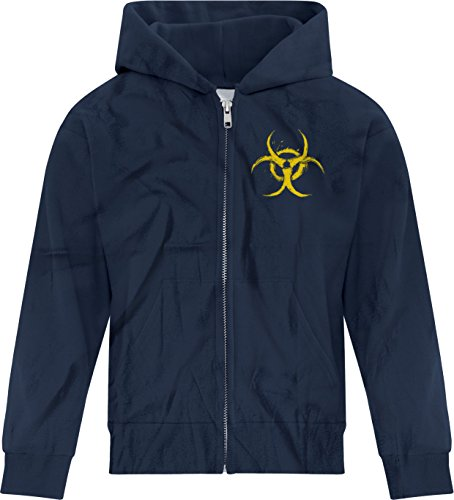 Price comparison product image BSW Girl's Biohazard Grunge Paint Splatter Biological CDC Zip Hoodie XL Navy