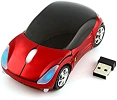 CHUYI Cool Sport Car Shaped Mouse 2.4GHz Wireless Car Mouse Ultra Small Optical Mouse Mini Office Mice for PC Computer...