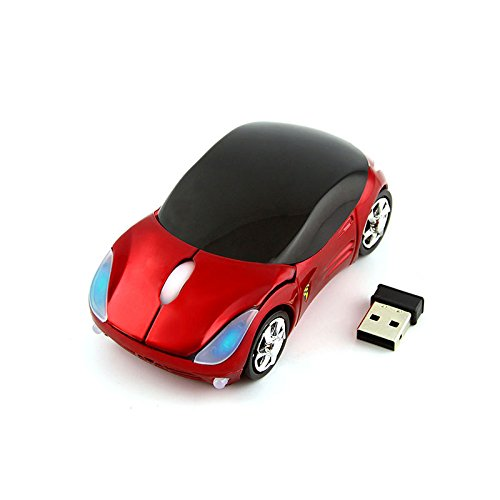 Best Red Pink Laptops - CHUYI Cool Sport Car Shaped Mouse