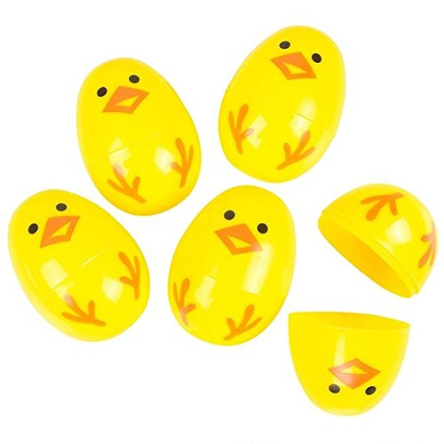 "Neliblu Easter Egg Chicks - Decorated Easter Eggs by Bulk Pack of 24 2.25"" Eggs for Fun Easter Hunt Games and Easter Baskets"