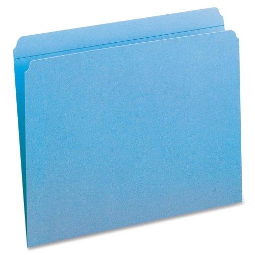 Smead 12010 Blue Colored File Folders with Reinforced Tab - Letter - 8.50quot; Width x 11quot; Length Sheet Size - 0.75quot; Expansion - 11 pt. - Blue - 100 / - Pt Size