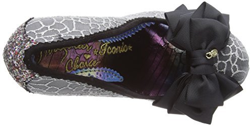 Tacco Scarpe Choice Donna Ascot Black col Argento Irregular Punta Chiusa Af Silver wIHqC5