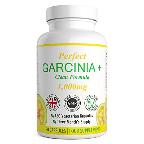 Garcinia Cambogia – 180 Capsules – 1000mg Daily Dosage – Premium Quality Supplement – UK Made – Vegetarian Suitable…
