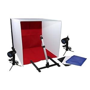 Luxburg® Softbox Studio Kit Professionale da tavolo con Lampada alogena e 4 sfondi - 40x40x40 12 spesavip