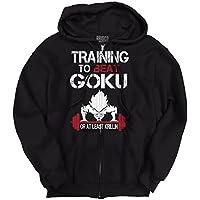 Brisco Brands Training In Saiyan Gym To Beat Goku or Krillin Zipper Hoodie