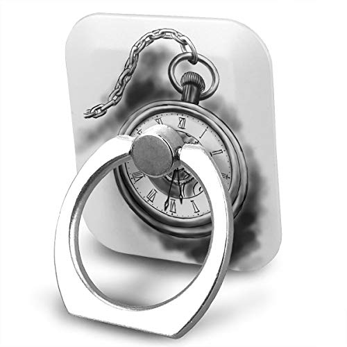 Square Finger Ring Stand 360°Rotation Phone Holder Grip Timepiece Clock Kickstand for Smartphones and Ipad