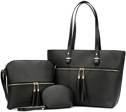 KKXIU Purses and Handbags For Women Tote Shoulder Crossbody Hobo Satchel Bag 3pcs Sets