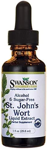 Swanson St. John s Wort Liquid Extract Alcohol Sugar Free 1 fl Ounce 29.6 ml Liquid