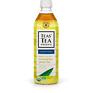 Teas' Tea Unsweetened Lemongrass Green Tea, 16.9 Ounces (Pack of 12)
