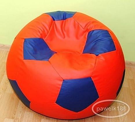 Egato - Puff, sillón, saco de piel sintética, con diseño de balón ...
