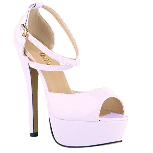 Zbeibei Platform High Womens White Stiletto Peep Toe Heel Strappy Ladies Sandal wr6qwx4B