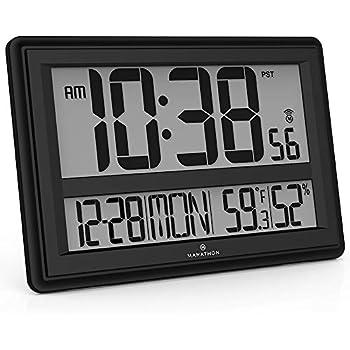 Amazon Com Low Vision Atomic Solar Wall Clock Health