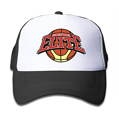 Price comparison product image Black Youth Norfolk Elite Wheelchair Basketball Club Cute Adjustable Baseball Mesh Cap For Boys And Girls One Size