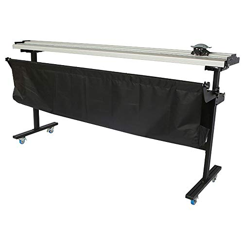 H-E 63 Inch (1600mm) Manual Large Format Paper Trimmer Cutter with Support Stand and Cloth Bag for Cutting Paper, Car Sticker, Adhesive Sticker, PVC, PP, KT Board ()