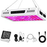 Phlizon Newest 1200W High Power Series Plant LED Grow Light,with Thermometer Humidity Monitor,