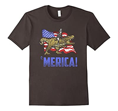 Abe Riding a Dinosaur! Merica! Funny July 4th T-Shirt