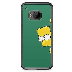 Loud Universe The simpsons HTC M9 Case Hiding Bart simpson HTC M9 Cover with Transparent Edges