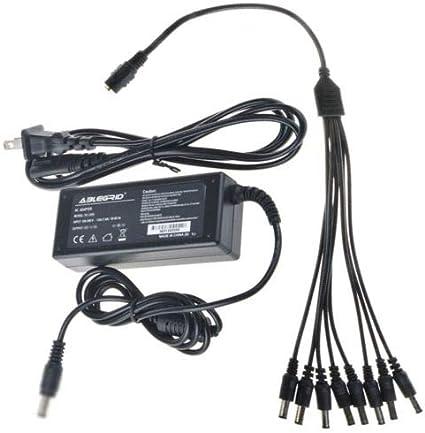 DC 12V 5A Power Supply Adapter /& 8 Split Power Cable CCTV Security Camera DVR