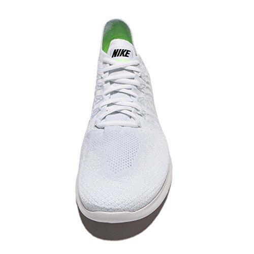 Nike Herren Free Run Flyknit 2017 Laufschuhe Weiß (White//Pure Platinum/Black)