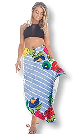 Simple Sarongs Women's Beach Towel Swimsuit Cover-up Wrap