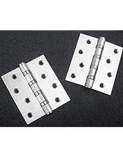 """Door Hinges, 3.5"""" Stainless Steel Hinge with Screws 2 Pack 89mm Hinge?Stainless Steel Butt Hinges Widely Used for Door Furniture"""