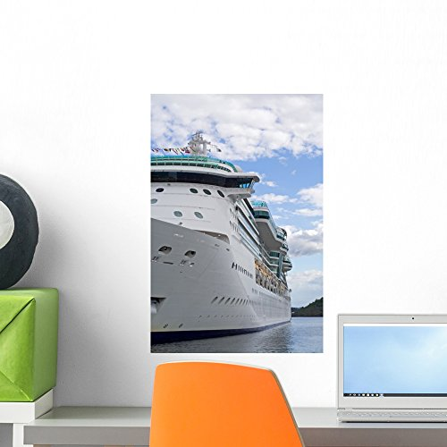 Wallmonkeys Huge Luxury Cruise Ship Wall Mural Peel and Stick Graphic (18 in H x 12 in W) WM213171 by Wallmonkeys